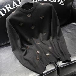 110906 골든 멀티 크라운 니트 스웨터(Black)