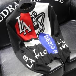 110881 크로스 배색 니트 스웨터(Black)