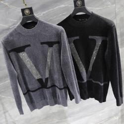 110882 V 비죠 프린팅 니트 스웨터(2Color)