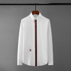 111079 로즈 자수 가슴띠배색 포인트 긴팔 셔츠(2Color)