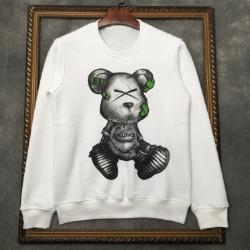 111067 토이 베어 프린팅 기모 맨투맨 티셔츠(2Color)