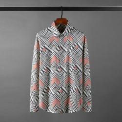 111139 지오메트릭 컬러 배색 히든버튼 긴팔 셔츠(Black)