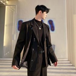 111200 메쉬 시스루 레이어드 자켓(Black)