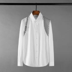 111145 스트라이프 어깨 배색 긴팔 셔츠(2color)