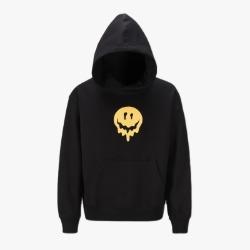 111183 호러 스마일 오버핏 후드 티셔츠(Black)