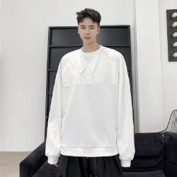 111164 페이크 셔츠 카라 덧댐 맨투맨 티셔츠(2color)