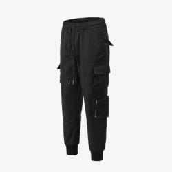 111255 RO 멀티 포켓 왁스 코튼 조거 팬츠(Black)