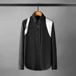 111352 DI 실켓 숄더 벨트 레이어드 긴팔 셔츠(Black)