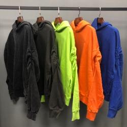 111387 엘보우 쉐어링 오버핏 기모 후드 티셔츠(5color)