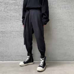 111413 루즈핏 로프 조거 트레이닝 팬츠(Black)