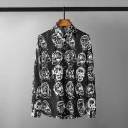 111513 멀티 스컬 프린팅 긴팔 셔츠(Black)