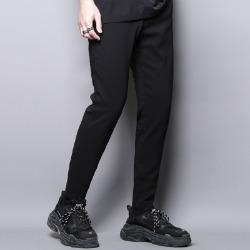 111472 블랑 더블 라인 스티치 9부 슬랙스(Black)