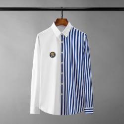 111451 스트라이프 전사 배색 긴팔 셔츠(2color)