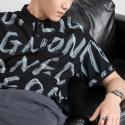 111431 레터링 카라 PK 반팔 티셔츠(2color)