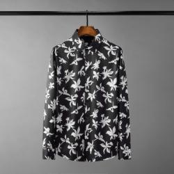 111433 쉐도우 플라워 프린팅 긴팔 셔츠(Black)