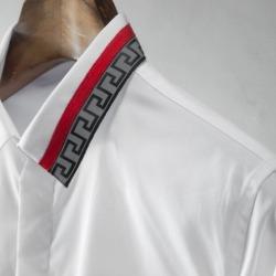 111452 지오메트릭 카라 히든버튼 긴팔 셔츠(4color)