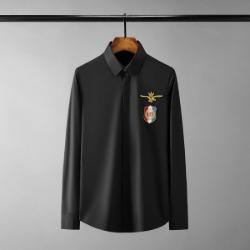 111450 체스트 로얄 패치 히든버튼 긴팔 셔츠(2color)