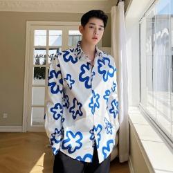 111443 루즈핏 데이지 프린팅 긴팔 셔츠(2color)