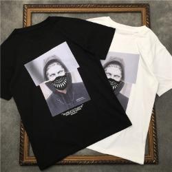 111555 썬더 마스크 레이어드 프린팅 반팔 티셔츠(2color)