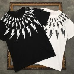 111548 NE 스크레치 썬더 프린팅 반팔 티셔츠(2color)