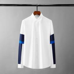 111640 소매 레이어드 프린팅 배색 긴팔 셔츠(White)