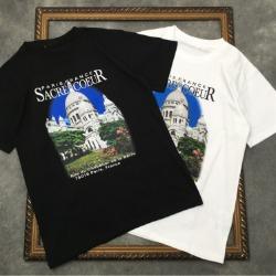111665 파리스 프랑 캐슬 프린팅 반팔 티셔츠(2color)