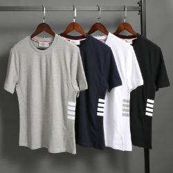 111575 사이드 사선 포인트 반팔 티셔츠(4color)