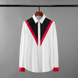 111617 체스트 소매 배색 긴팔 셔츠(2color)