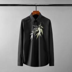111613 골든실버 리프 자수 긴팔 셔츠(2color)