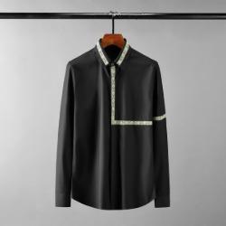 111614 카라 금사 자수 포인트 긴팔 셔츠(2color)