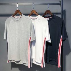 111574 드랍숄더 사이드 삼색 테이핑 반팔 티셔츠(3color/2type)