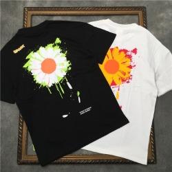 111597 스파크 데이지 프린팅 자수 반팔 티셔츠(2color)