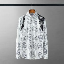 111606 멀티 스컬 숄더 포인트 긴팔 셔츠(White)