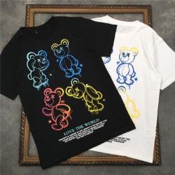 111586 그라데이션 컬러 토이베어 반팔 티셔츠(2color)