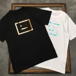 111590 홀로그램 스퀘어 스마일 프린팅 반팔 티셔츠(2color)