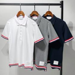 111578 소매 밑단 삼선 테이핑 PK 반팔 티셔츠(3color)