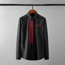 111616 체스트 언밸런스 스트라이프 긴팔 셔츠(2color)
