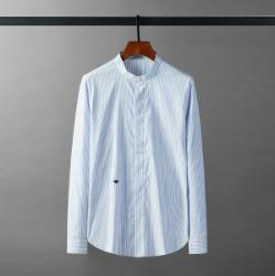 111655 차이나카라 벌자수 스트라이프 긴팔 셔츠(Blue)