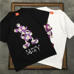 111722 데이지 프린팅 반팔 티셔츠(2color)