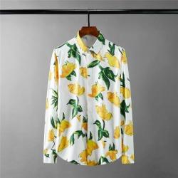 111694 워터 플라워 드로잉 긴팔 셔츠(White)