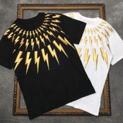 111813 골든 썬더 입체 프린팅 반팔 티셔츠(2color)