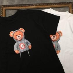 111815 후디 베어 스트링 포인트 반팔 티셔츠(2color)