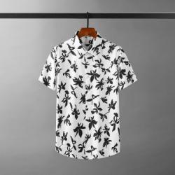 111700 히비스커스 프린팅 반팔 셔츠(2color)