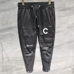 111769 C 프론트 카고 포켓 트레이닝 팬츠(Black)