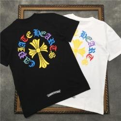 111829 레인보우 레터링 크로스 반팔 티셔츠(2color)