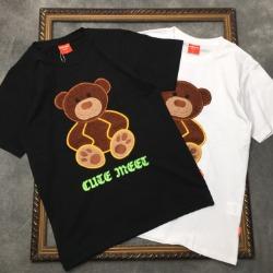 111721 큐트 베어 자수 패치 반팔 티셔츠(2color)