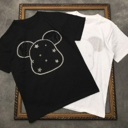 111825 파이브 스타 비즈 프린팅 반팔 티셔츠(2color)
