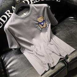 111735 M 베어 자수 패치 반팔 티셔츠(7color)