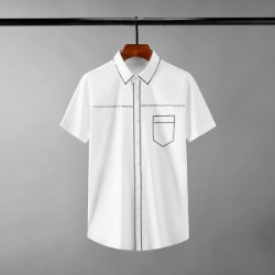 111699 스팽글 라인 배색 포인트 반팔 셔츠(2color)
