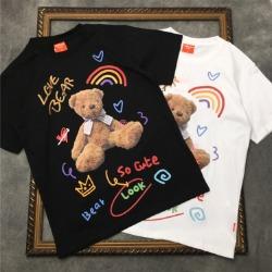 111724 러브 베어 컬러 프린팅 반팔 티셔츠(2color)